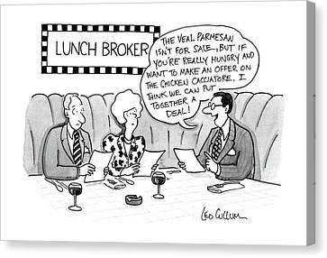 Lunch Broker Canvas Print