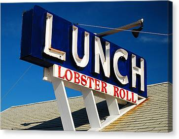 Lunch Time Canvas Print by James Kirkikis