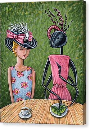 Ant Canvas Print - Lunch With A Favorite Ant by Holly Wood