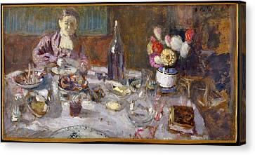 Luncheon Canvas Print by �douard Vuillard