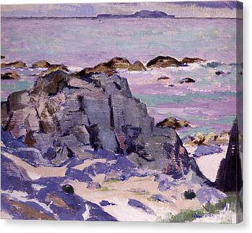 Lunga From Above Mermaids Canvas Print by Francis Campbell Boileau Cadell