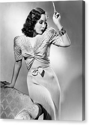 Lupe Velez, Modeling Two-piece Blue Canvas Print by Everett