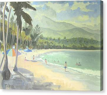 Luquillo Beach Canvas Print by Marcus Thorne
