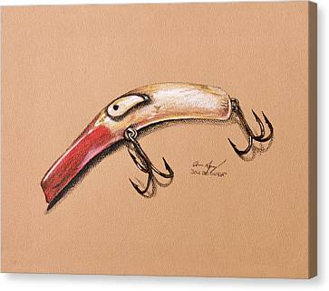 Canvas Print featuring the drawing Lure by Aaron Spong