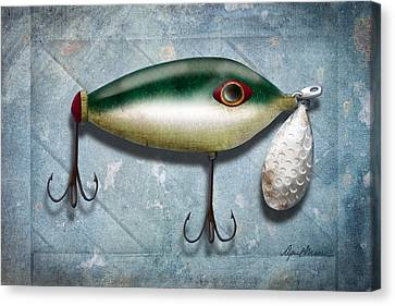 Aged Wood Canvas Print - Lure I by April Moen