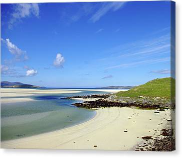 Canvas Print featuring the photograph Luskentyre Paradise by Jacqi Elmslie