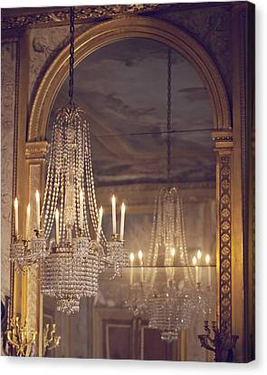 Lustre De Fontainebleau - Paris Chandelier Canvas Print by Melanie Alexandra Price