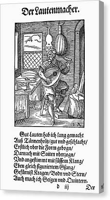 Lute Maker, 1568 Canvas Print by Granger