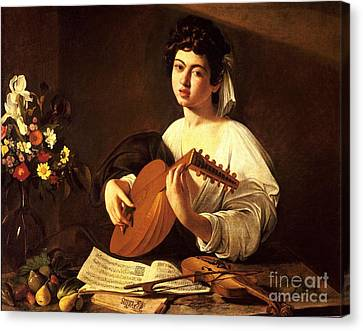 Lute Player Canvas Print by Celestial Images