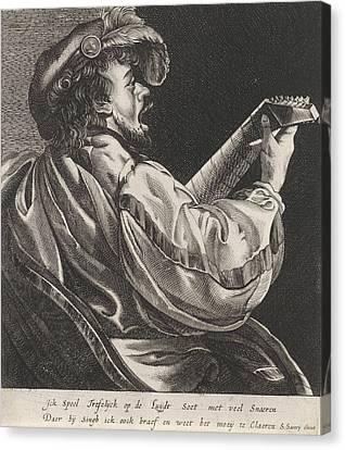 Lute Playing Man, Hendrick Ter Brugghen, Salomon Savery Canvas Print by Artokoloro