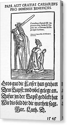 Broadsheet Canvas Print - Luther Satire, 1545 by Granger