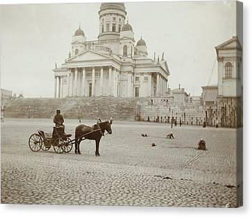Lutheran Cathedral In Helsinki, Finland, Henry Pauw Van Canvas Print by Artokoloro