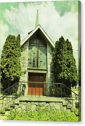Canvas Print featuring the photograph Lutheran Church by Laurie Tsemak