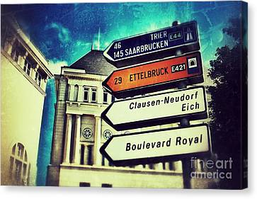 Canvas Print featuring the photograph Luxembourg City by Nick  Biemans