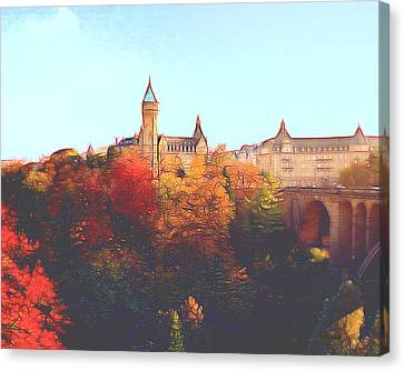 Luxembourg City Skyline Canvas Print by Dennis Lundell