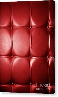 Luxury Genuine Leather. Red Color Canvas Print by Michal Bednarek