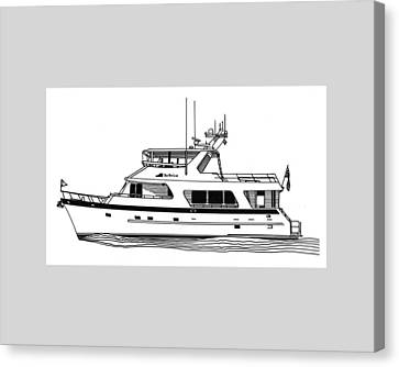 Luxury Motoryacht Canvas Print by Jack Pumphrey