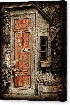 Toilet Canvas Print - Luxury Outhouse by Brenda Conrad