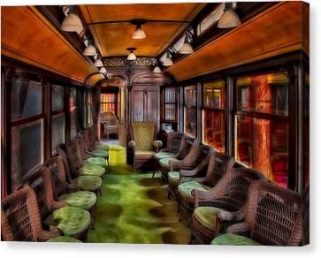 Luxury Trolley Train Canvas Print by Susan Candelario