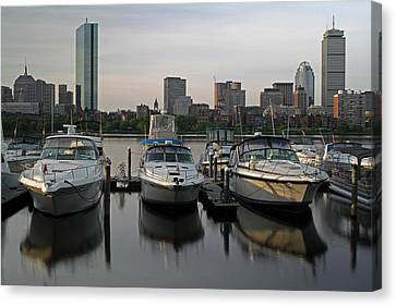 Luxury Yachts Of Boston Canvas Print by Juergen Roth
