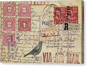 Lyda Compton Postcard Canvas Print by Carol Leigh