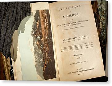 Principles Canvas Print - Lyell's 'principles Of Geology' (1833) by Paul D Stewart