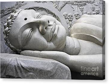 Lying Buddha Statue Canvas Print by Sami Sarkis