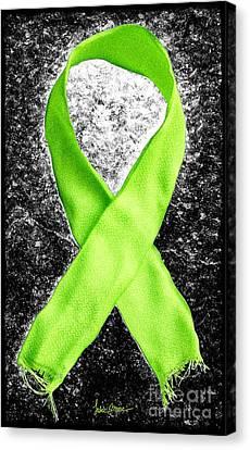 Lyme Disease Awareness Ribbon Canvas Print by Luke Moore