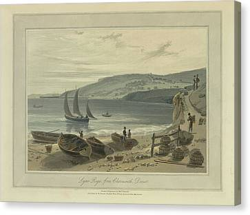 Lyme Regis Canvas Print by British Library
