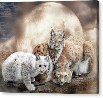 Lynx Moon Canvas Print