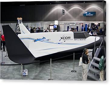 Lynx Spaceplane Mock-up Canvas Print