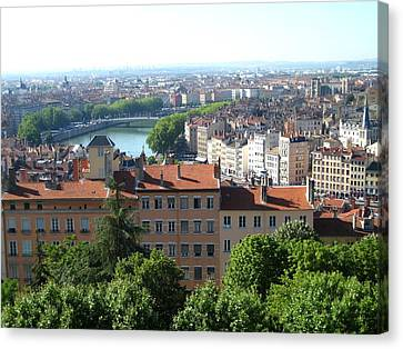 Lyon From Above Canvas Print by Dany Lison