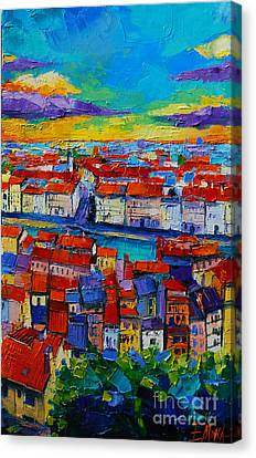 Lyon View 2 Canvas Print by Mona Edulesco