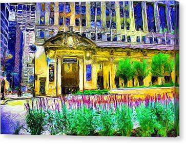 Lyric Opera House Of Chicago Canvas Print by Ely Arsha