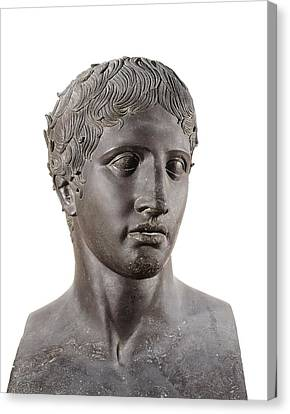 Lysippus C. 370-318 Bc. Hermes. 4th C Canvas Print