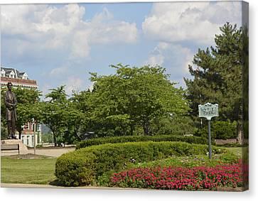 Lytle Park Cincinnati Canvas Print by Kathy Barney