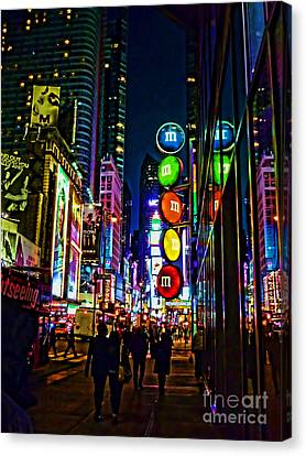 m and m store NYC Canvas Print