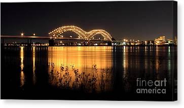 The Hernando De Soto Bridge M Bridge Or Dolly Parton Bridge Memphis Tn  Canvas Print by Reid Callaway