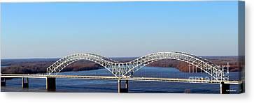M Bridge Memphis Tennessee Canvas Print by Barbara Chichester