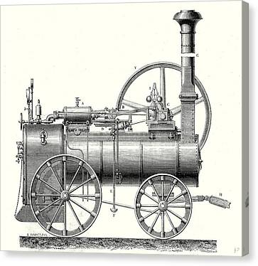 M. Callas Traction Engine Canvas Print by English School