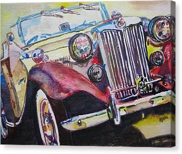 M G Car  Canvas Print by Anna Ruzsan