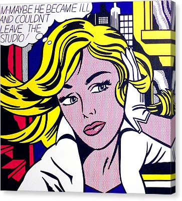 M-maybe Canvas Print by Roy Lichtenstein