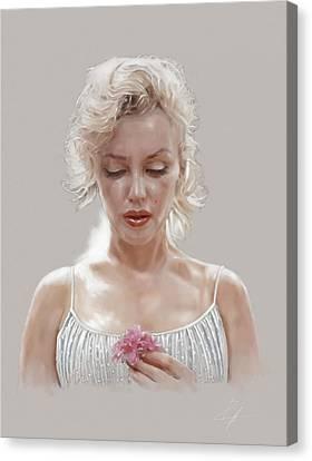 1960 Canvas Print - Marilyn Monroe by  Gerald Piggott