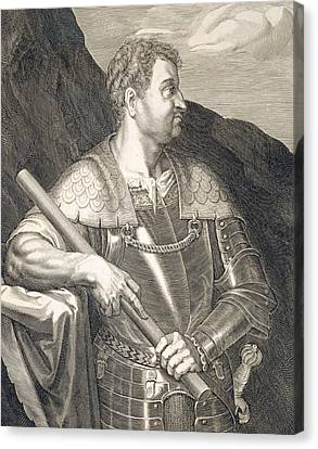 M Silvius Otho Emperor Of Rome Canvas Print by Titian