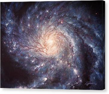 M101 Pinwheel Galaxy Canvas Print