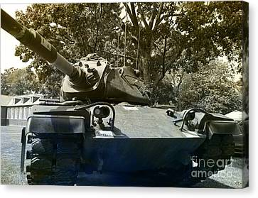 M60 Patton Artillery Tank Canvas Print