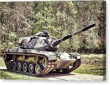 M60 Patton Tank Canvas Print by Olivier Le Queinec