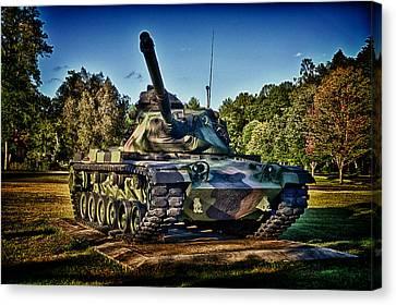 M60a3 Mbt Canvas Print by D L McDowell-Hiss