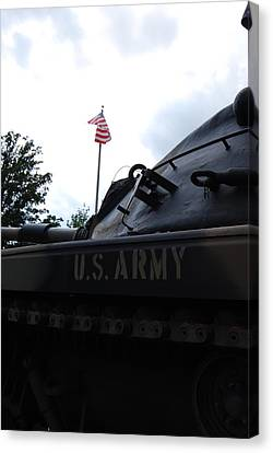 Canvas Print featuring the photograph M60a3 Us Tank 05 by Ramona Whiteaker