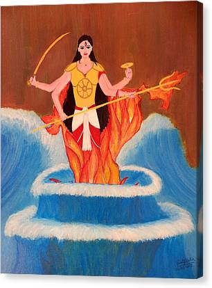 Ma Bharati Canvas Print by Pratyasha Nithin